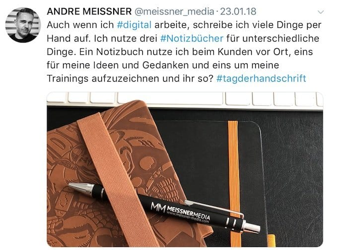 Twitter @meissner_media Notizbücher